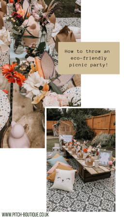 How to throw an eco-friendly picnic party - by Pitch Boutique!