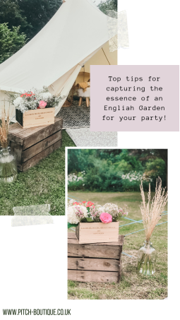 Top tips for capturing the essence of an English Garden for your party - Pitch Boutique!